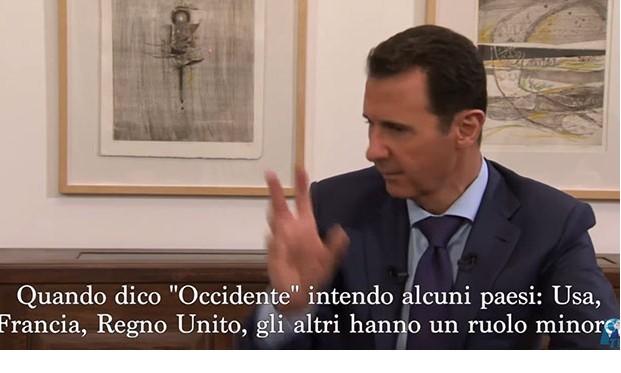 Assad occidente vuole la guerra