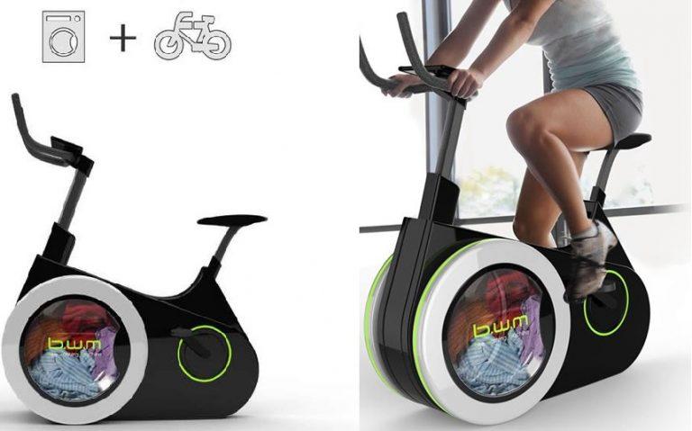 Bike Washing Machine è la nuova lavatrice che permette di fare il bucato pedalando. Una cyclette con cui puoi tenerti in forma e lavare i panni