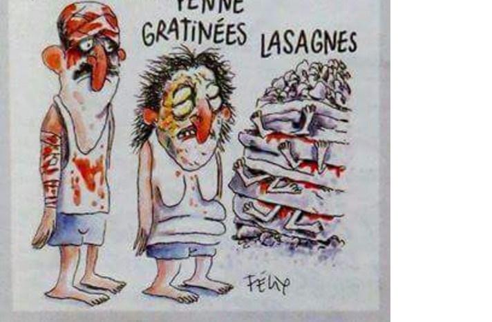 Charlie hebdo scherza sui morti terremotati italiani