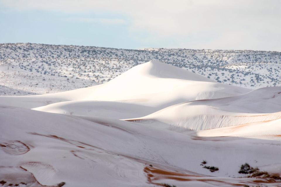 Deserto del Sahara la nevicata che ha stupito tutti Le Foto 2