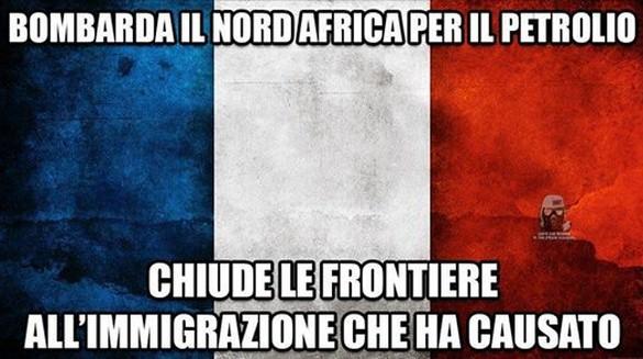 Francia bombarda Libia petrolio immigrati