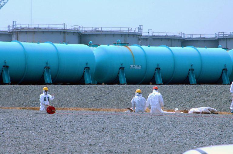 Fukushima centrale nucleare Tepco, serbatoi di stoccaggio