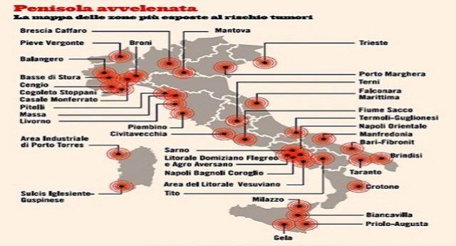 Italia inquinata: bonifiche fantasma e cancro alle stelle.Il dossier shock