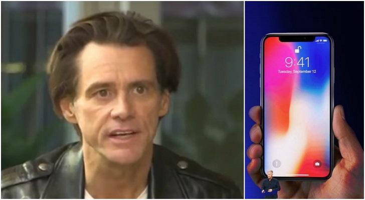 Jim Carrey il nuovo iPhone X di Apple è progettato per schiavizzare l'umanità