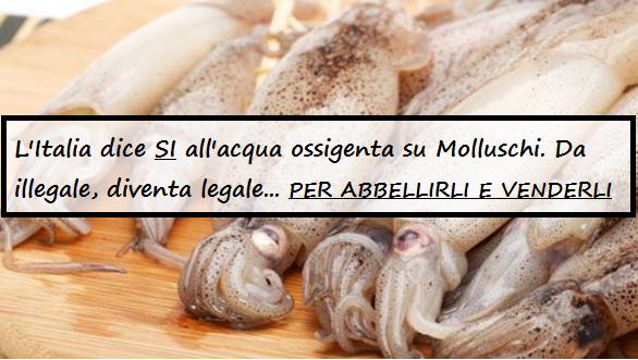 Molluschi CON ACQUA OSSIGENATA