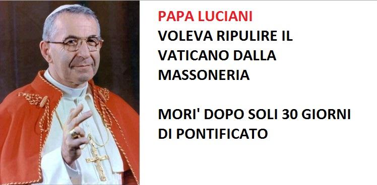 Papa Luciani massoneria
