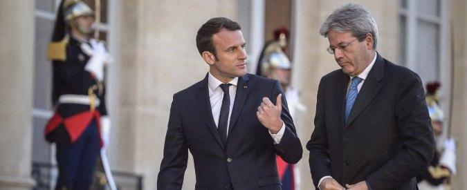 Perchè Gentiloni ha regalato i giacimenti di petrolio alla Francia macron e gentiloni