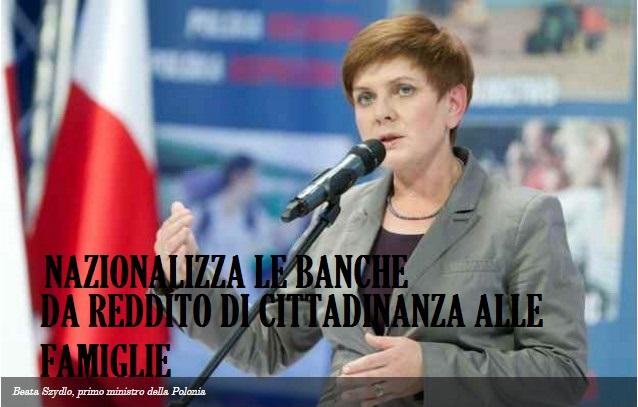 Polonia governo nazionalizza banche