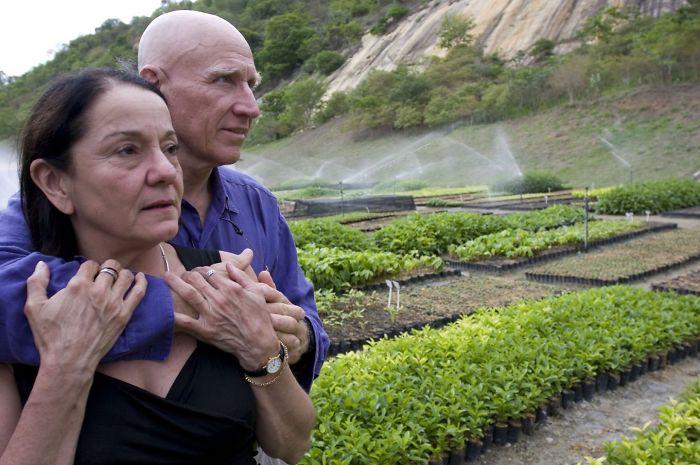 Sebastião Salgado e sua moglie Lélia Deluiz Wanick Salgado