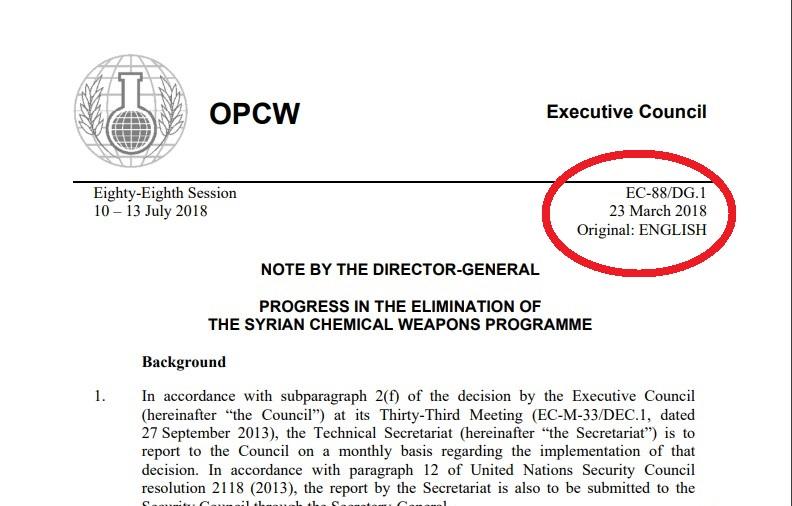 Siria rapporto OPAC in quell' edificio non c'erano armi chimiche