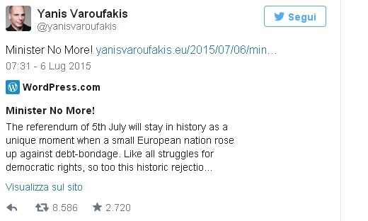 Varoufakis dimissioni