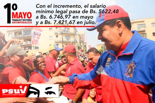 Venezuela Maduro aumento salari pensioni