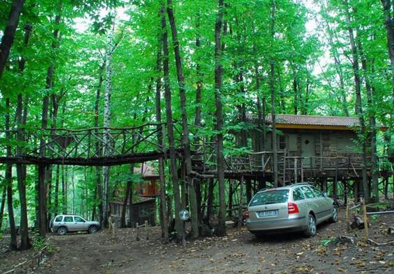 Villaggio case sugli alberi Piemonte Monti Pelati 2