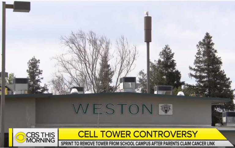 4 studenti si ammalano di cancro a causa di questa antenna per telefonia sulla Weston Elementary School di Ripon