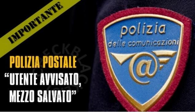 avviso polizia truffa notifica facebook