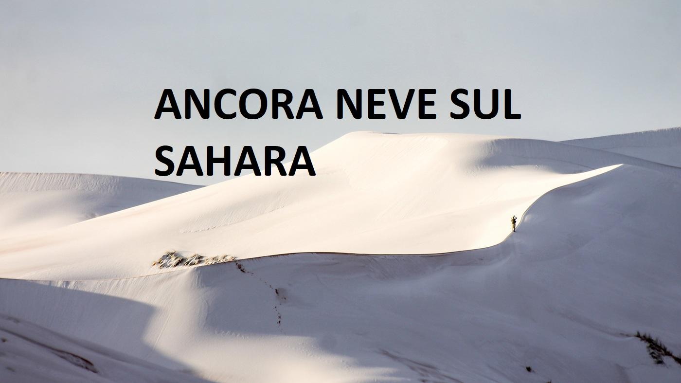 cambiamenti climatici ancora neve sul Sahara