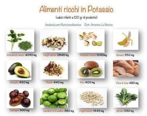 cibi ricchi di potassio