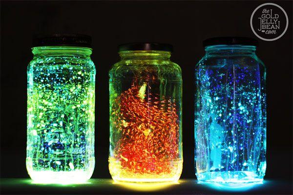 come trasformare dei barattoli di vetro in lampade fluorescenti 4