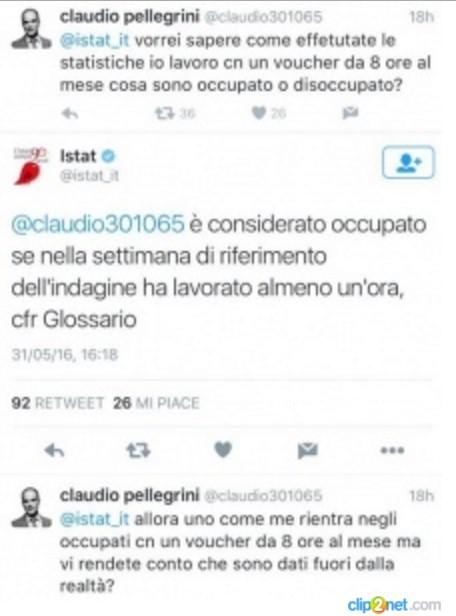 disoccupazione calcolata dall' Istat