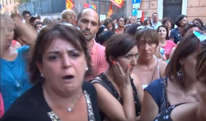 docenti scuola di roma protesta censurare