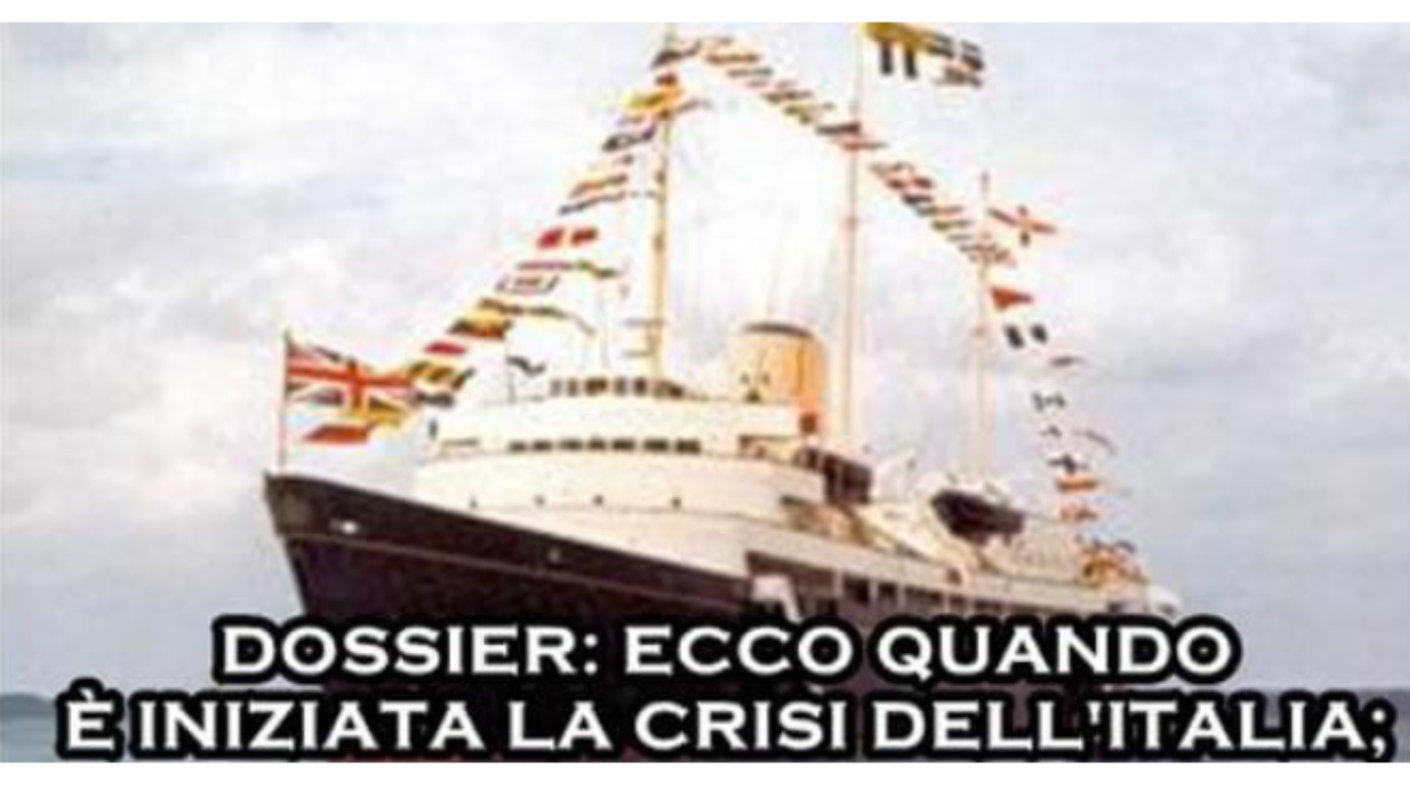 dossier crisi italia panfilo britannia