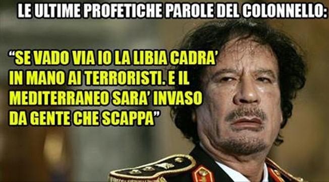 gheddafi libia profezie