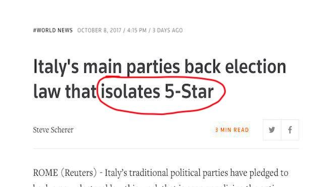 giornali stranieri legge elettorale rosatellum