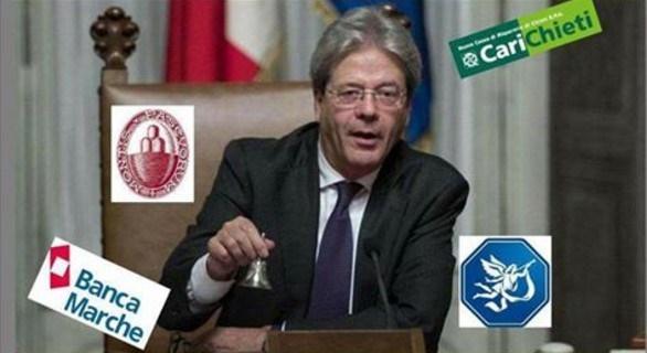 governo Gentiloni pronto a salvare le banche
