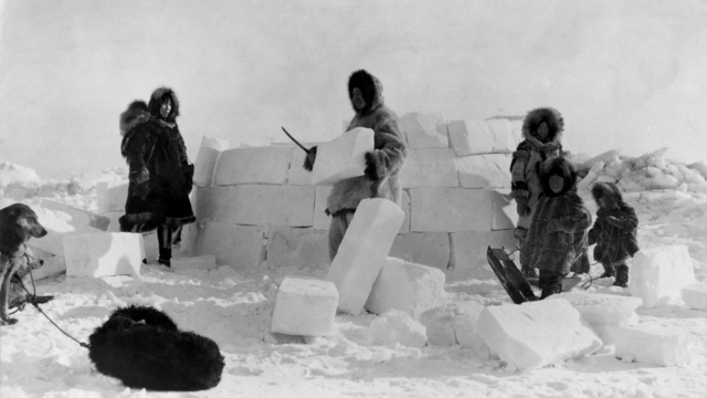 igloo blocchi di neve