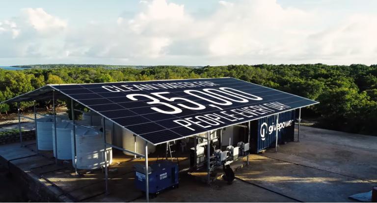 kenya impianto solare di desalinizzazione GivePower
