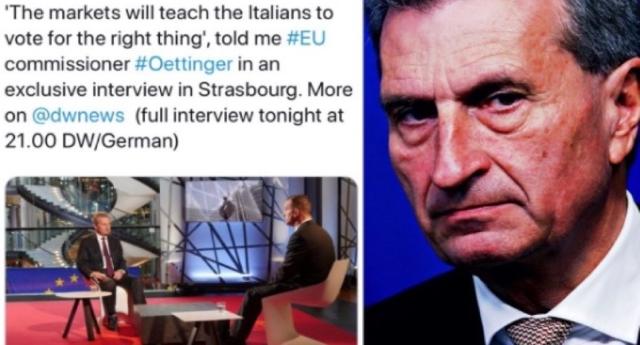 l'Europa vuole massacrare l'Italia per annientare Lega e 5 Stelle marcello foa