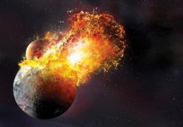 la luna è nata da un frammento della terra