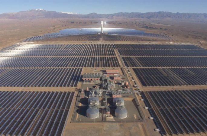 la più grande centrale di energia solare al mondo è in marocco