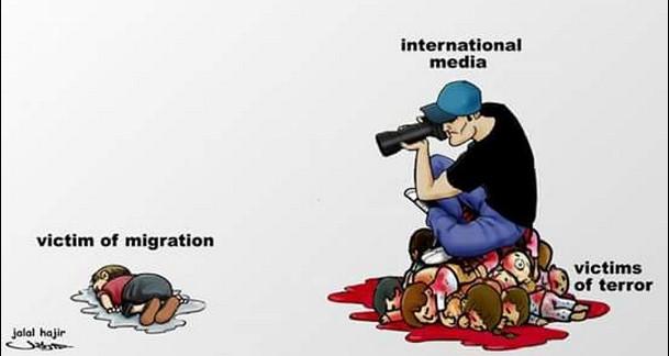 media vittime di migrazione e di terrorismo