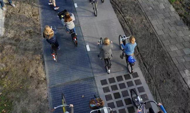 olanda pista ciclabile solare