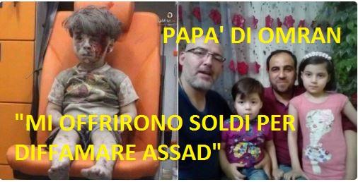 """Il padre del piccolo Omran: """" i ribelli mi offrirono soldi per diffamare Assad"""""""