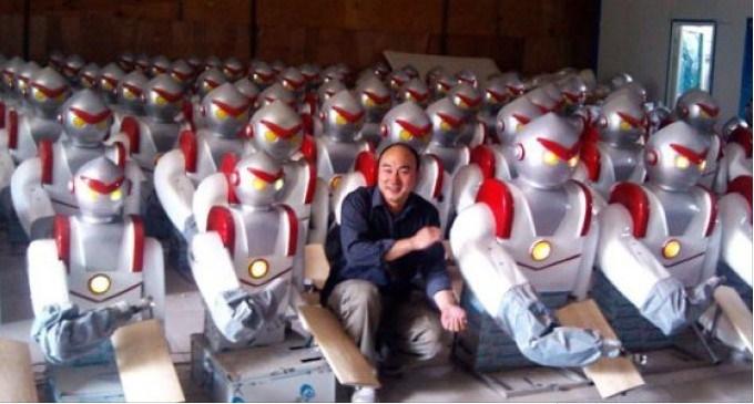 operai licenziati robot