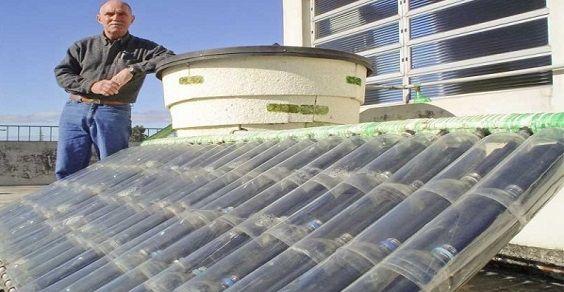 pannello solare termico fai da te bottiglie di plastica