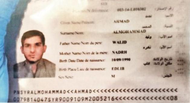 passaporto intatto terrorista
