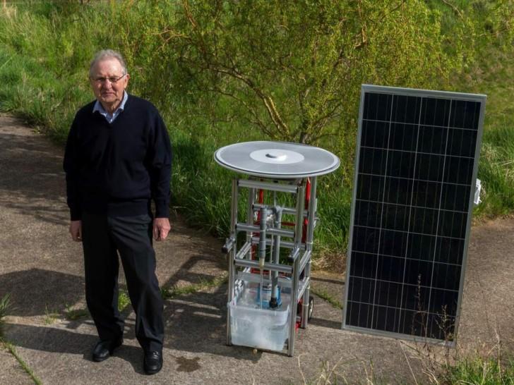 pensionato inventa motore solare