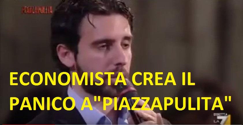 """Debito pubblico e crisi.Un economista rivela come uscirne a """"PiazzaPulita"""""""