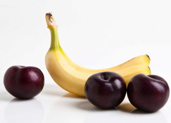 potassio prugne e banane