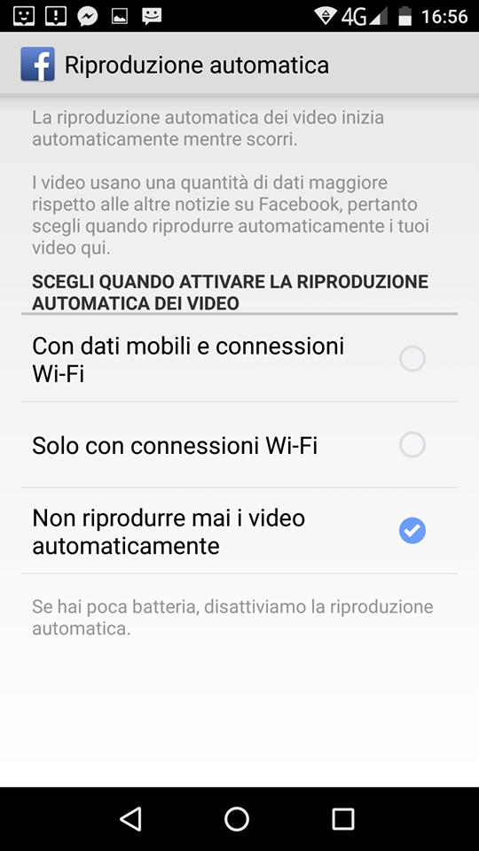 riproduzione automatica video facebook 1