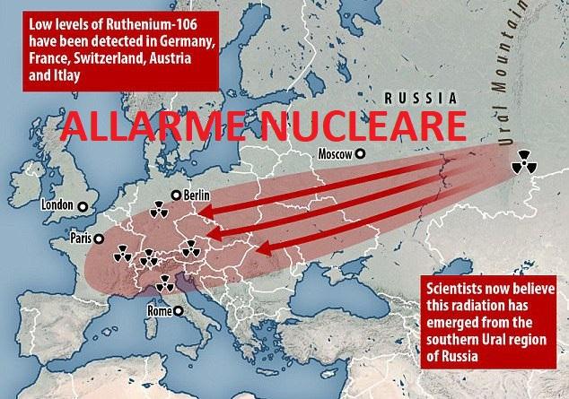 russia allarme nucleare rutenio in tutta europa