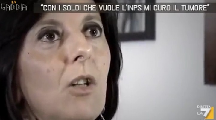 tasse tumore Daniela inps