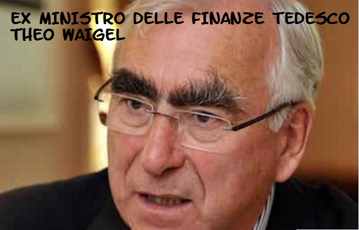 theo waigel senza euro germania crolla