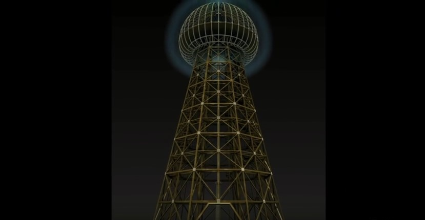 torre Nikola Tesla scienziati russi