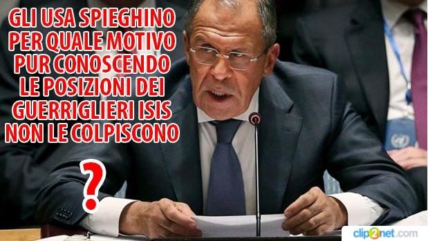 usa posizioni isis Lavrov