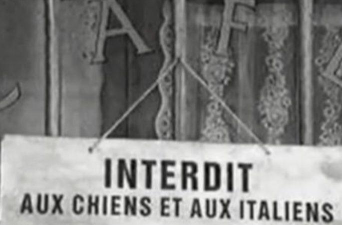 vietato l'ingresso ai cani e agli italiani