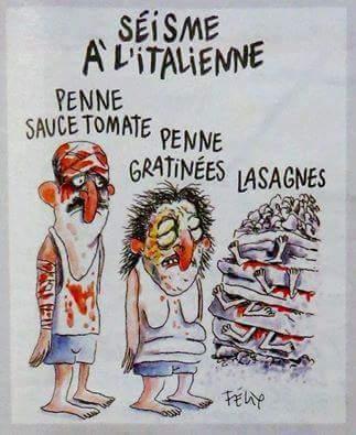 vignetta charlie hebdo terremotati italiani